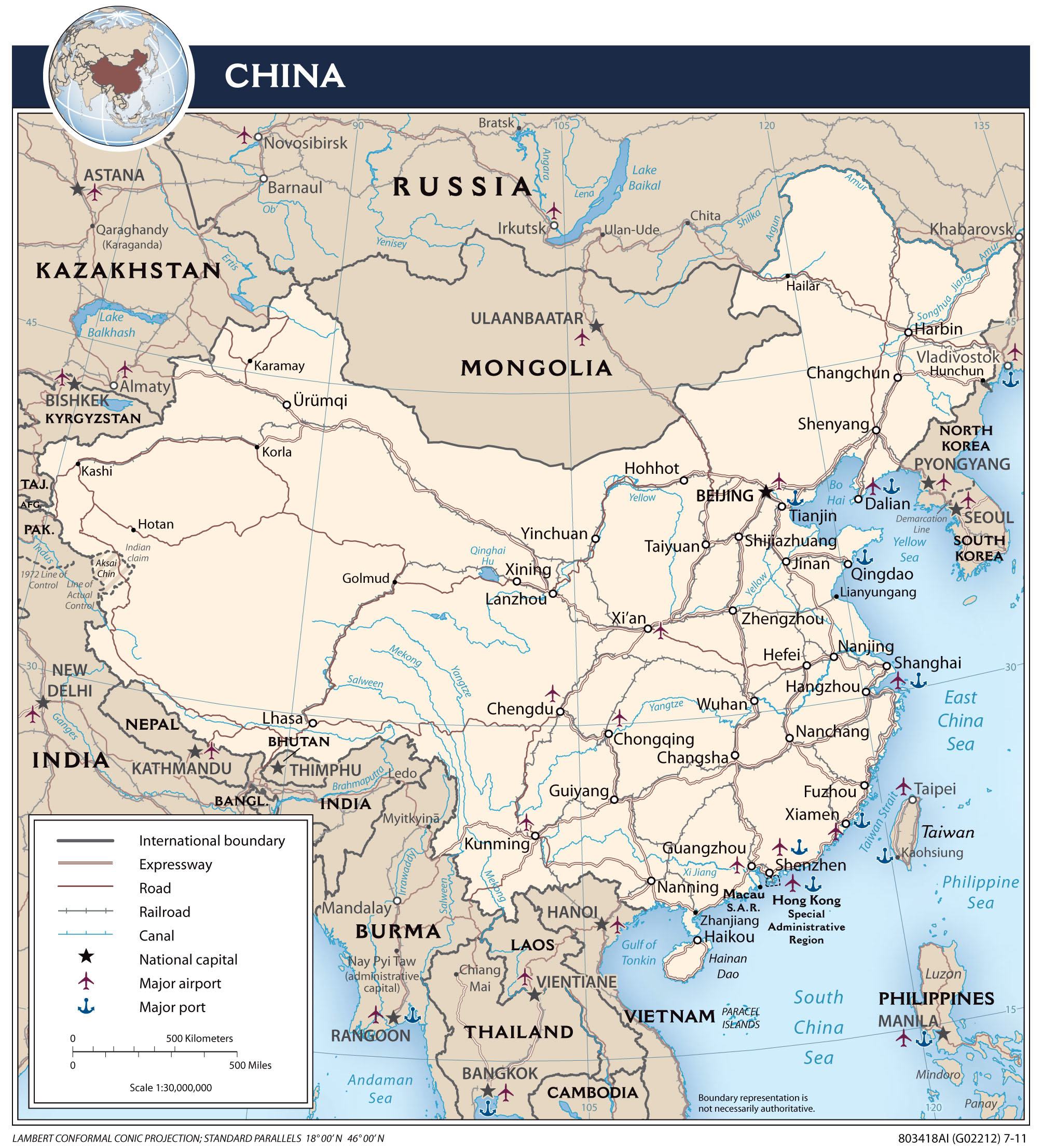 china map major cities Large Detailed Political Map Of China With Roads Major Cities And china map major cities