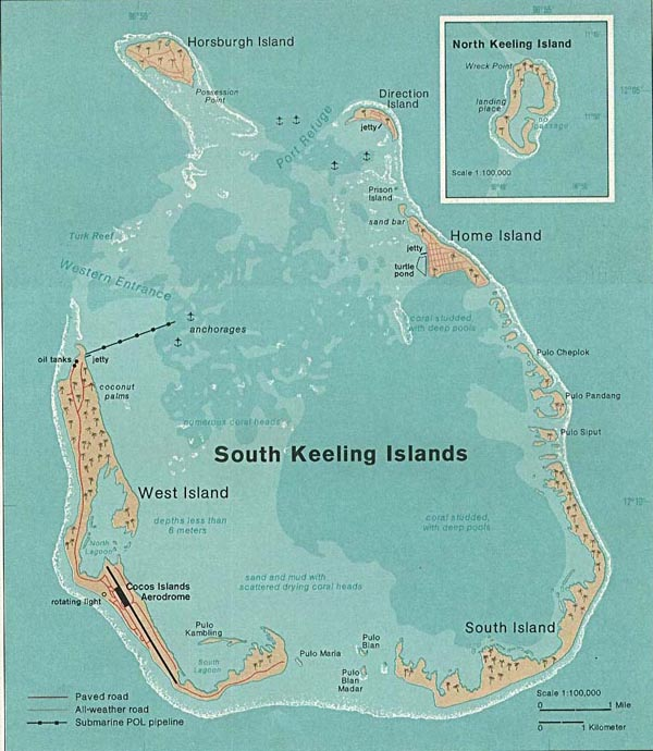 Large detailed map of Cocos (Keeling) Islands. Cocos (Keeling) Islands large detailed map.