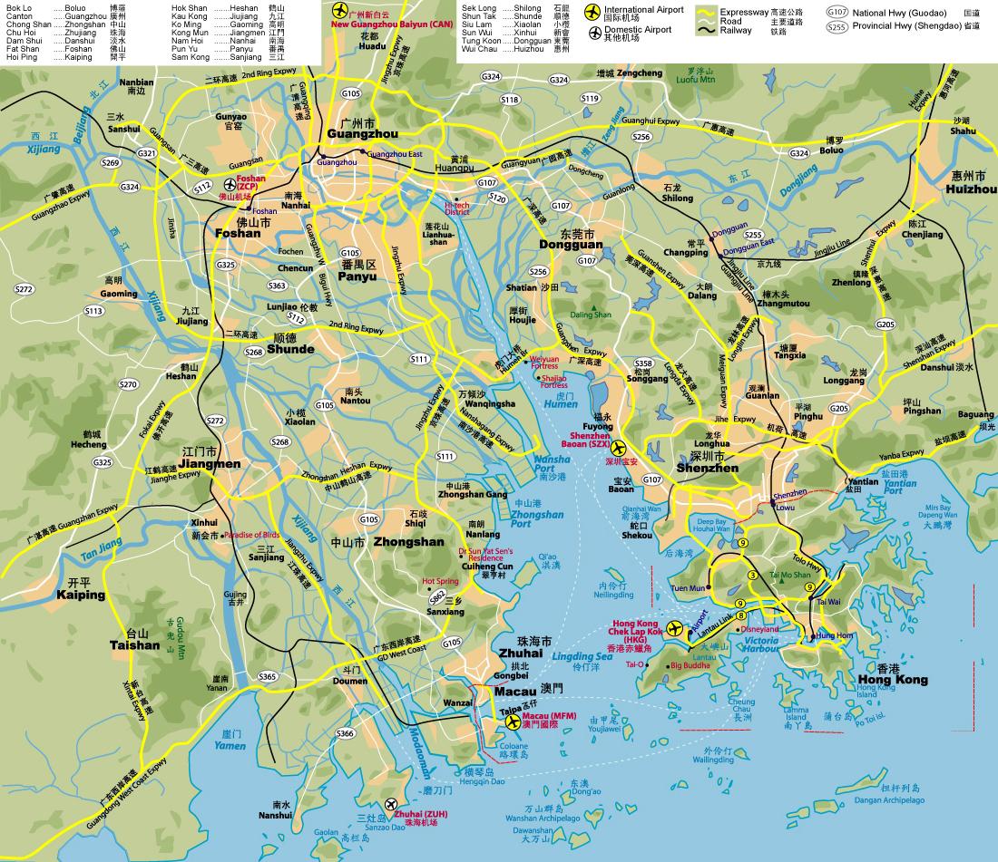 Road map of guangzhou and hong kong hong kong and guangzhou road road map of guangzhou and hong kong hong kong and guangzhou road map gumiabroncs Images