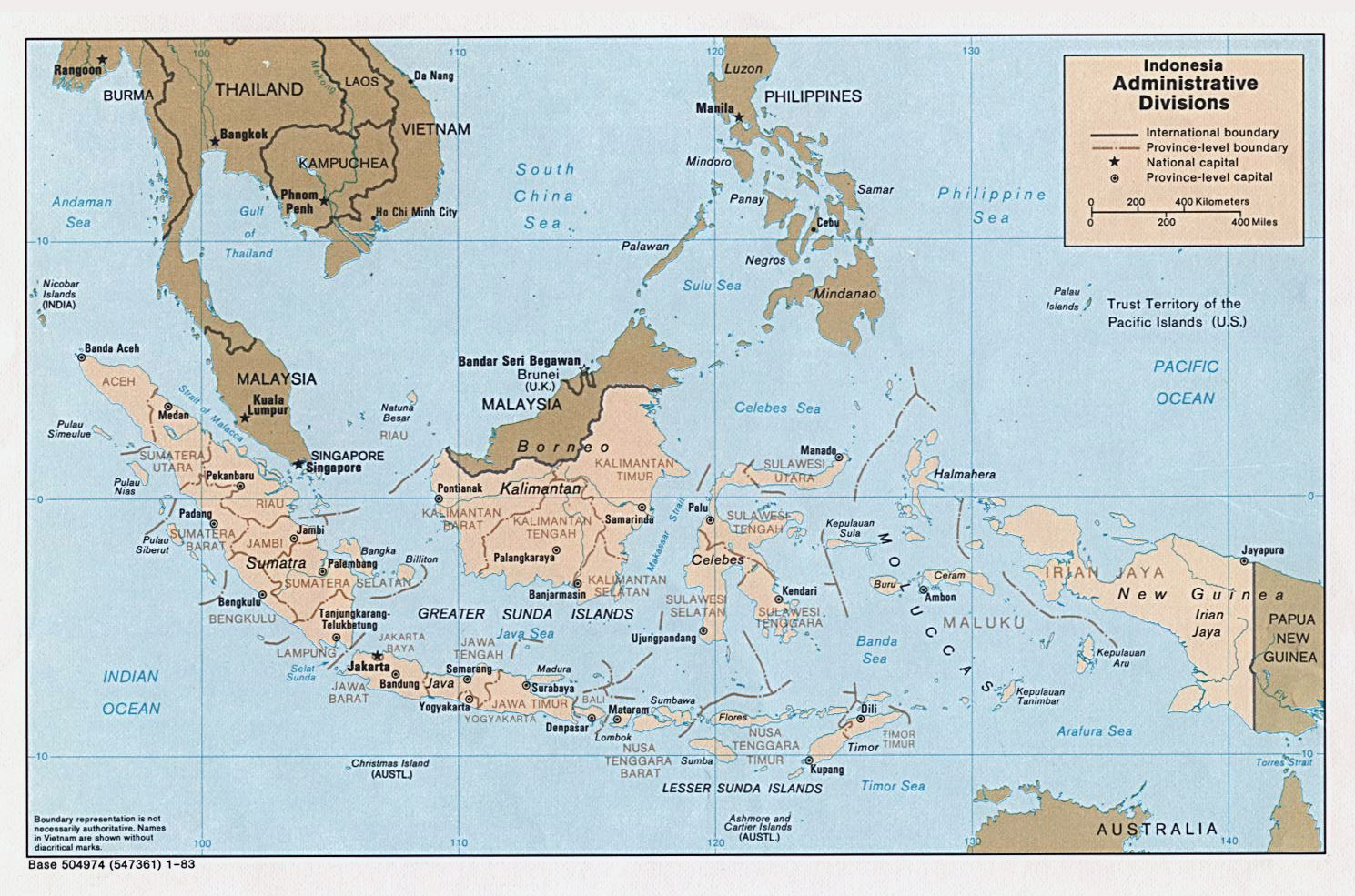 Administrative map of Indonesia Indonesia administrative map