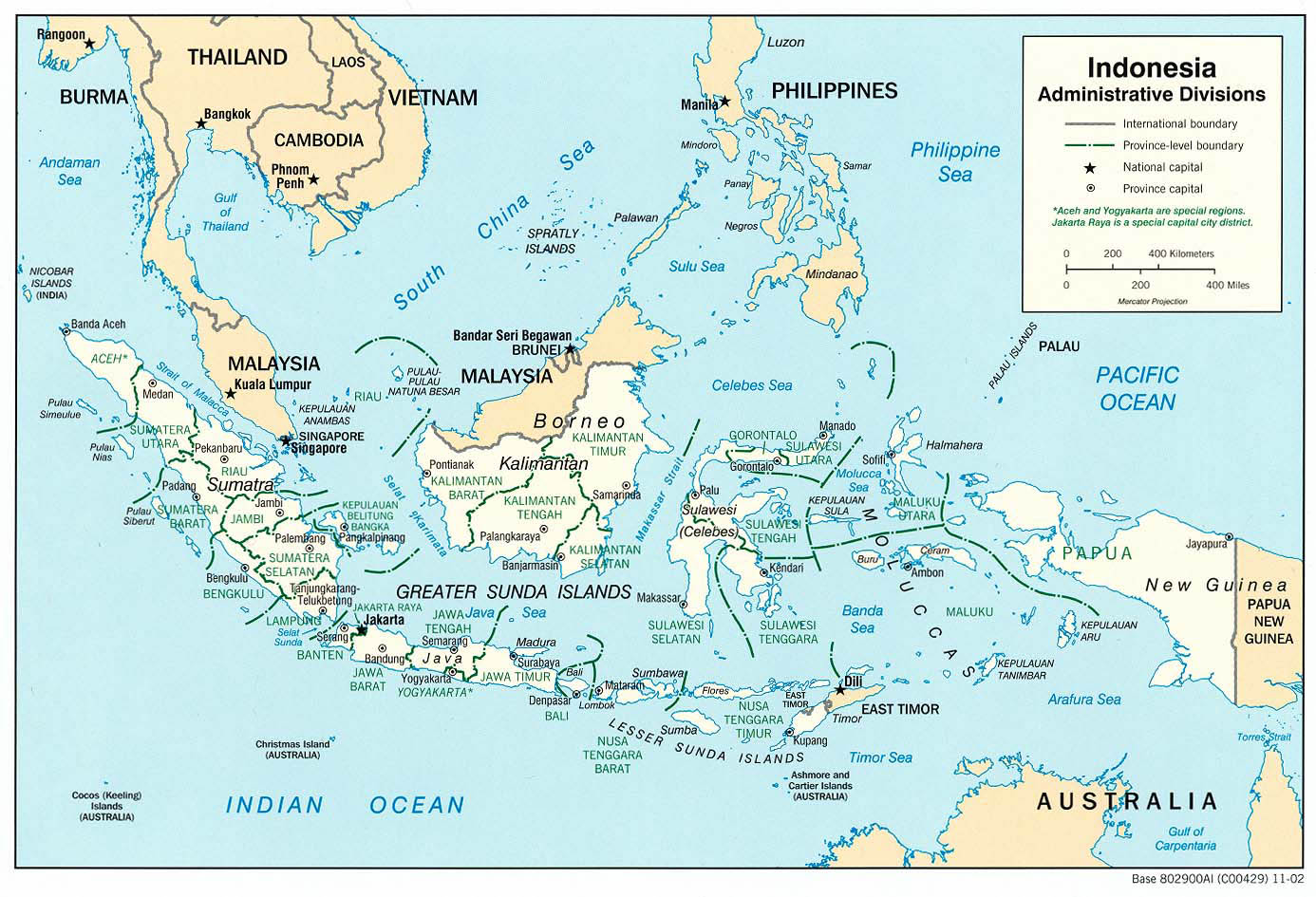Map of indonesia indonesia large detailed administrative map