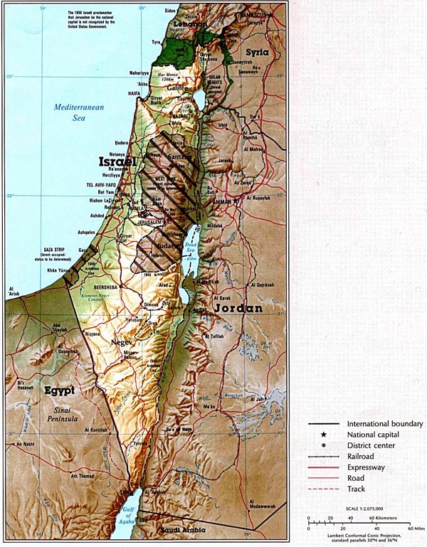 Detailed map of Israel. Israel detailed map.
