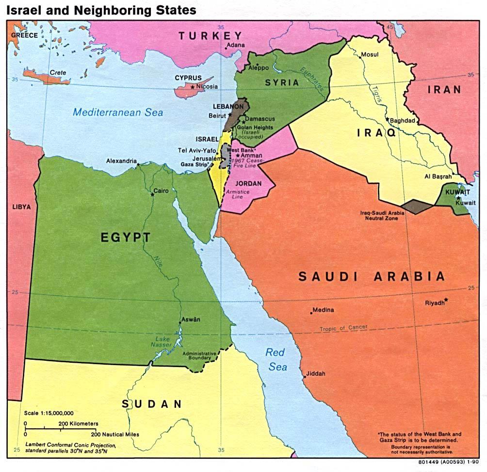 ... detailed political map of Israel. Israel large detailed political map