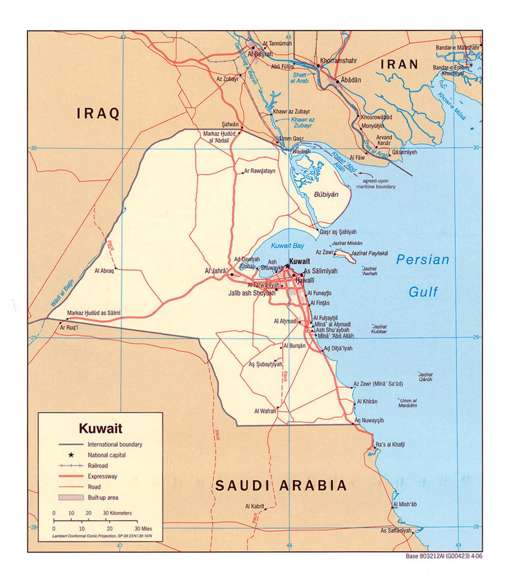 Kuwait Map Google Kuwait Political Map