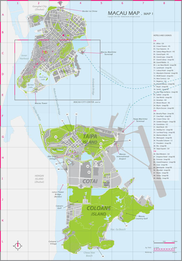 Large detailed administrative map of Macau.
