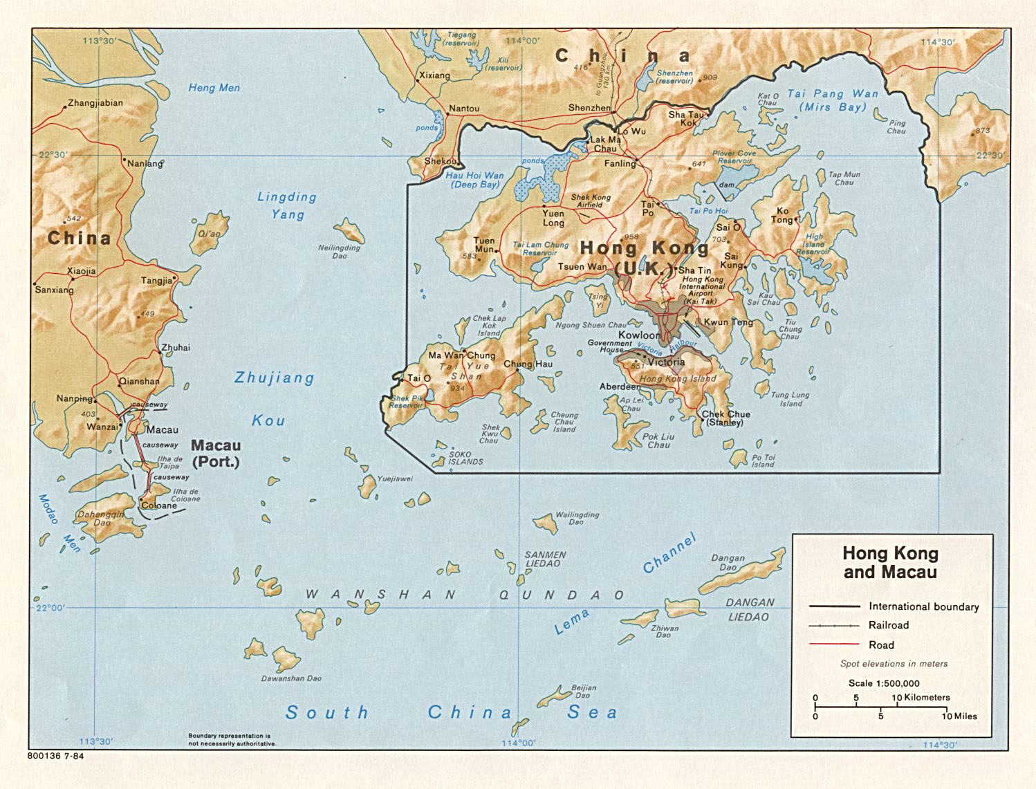 Large detailed political map of Hong Kong and Macau Hong Kong and