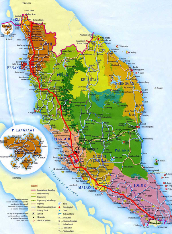 Detailed administrative map of West Malaysia. West Malaysia detailed administrative map.