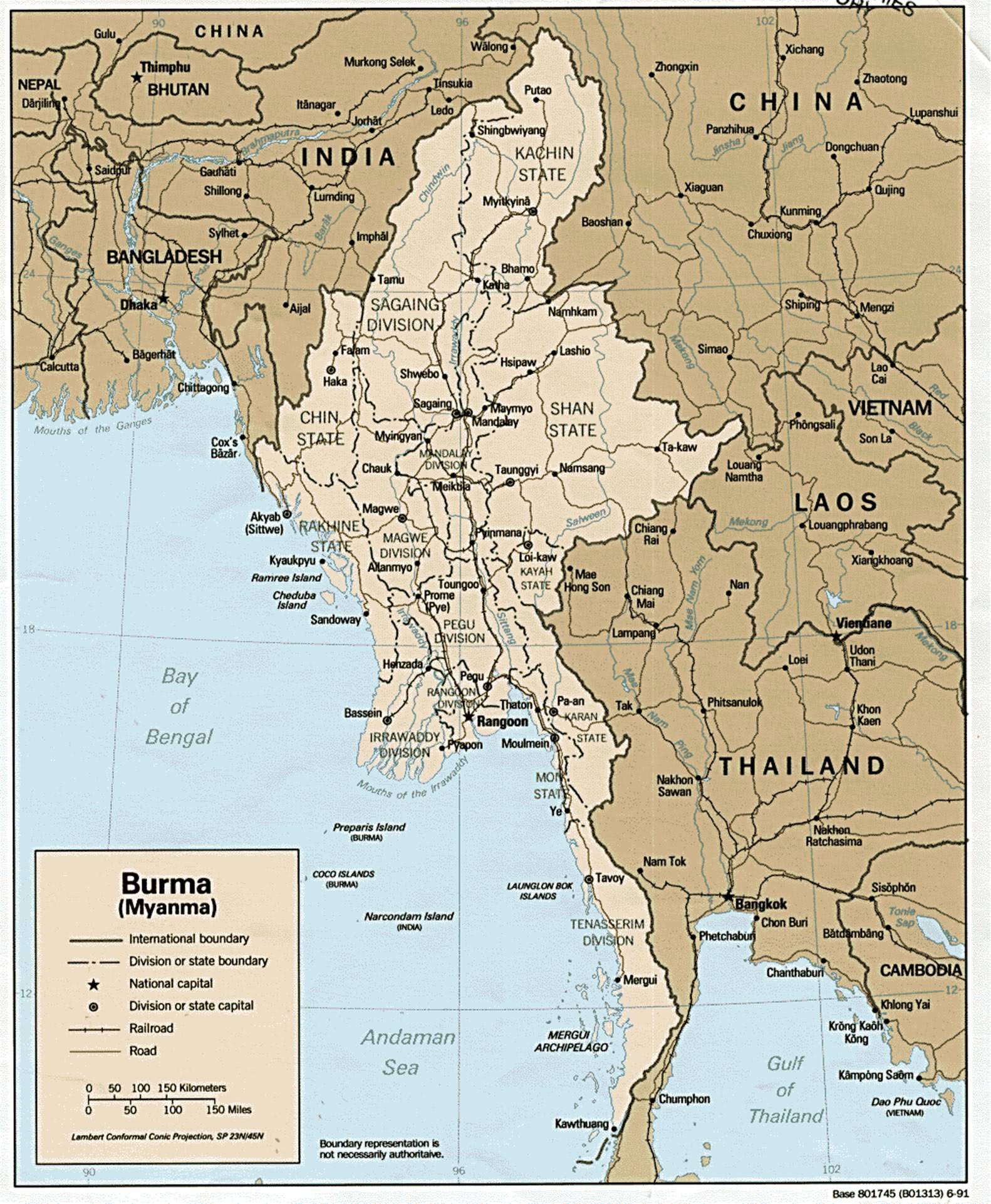 Large detailed administrative and political map of Burma Burma – Burma Tourist Map