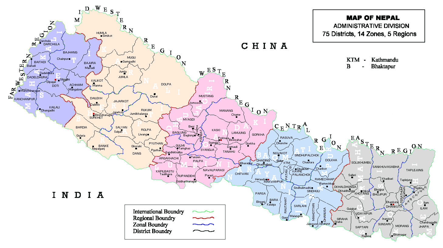 Full administrative map of nepal nepal full administrative map full administrative map of nepal nepal full administrative map sciox Gallery