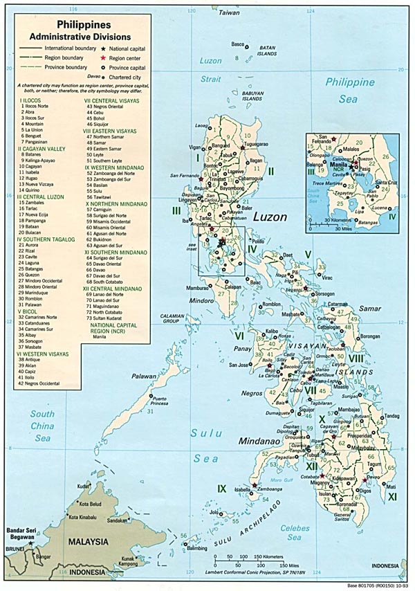 Large detailed administrative map of Philippines.