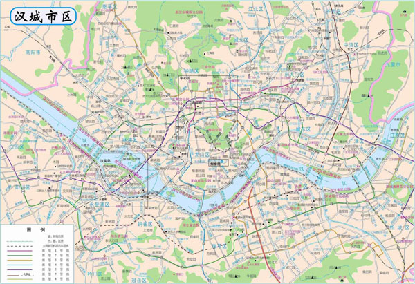 Large detailed road map of Seoul city. Seoul city large detailed road map.