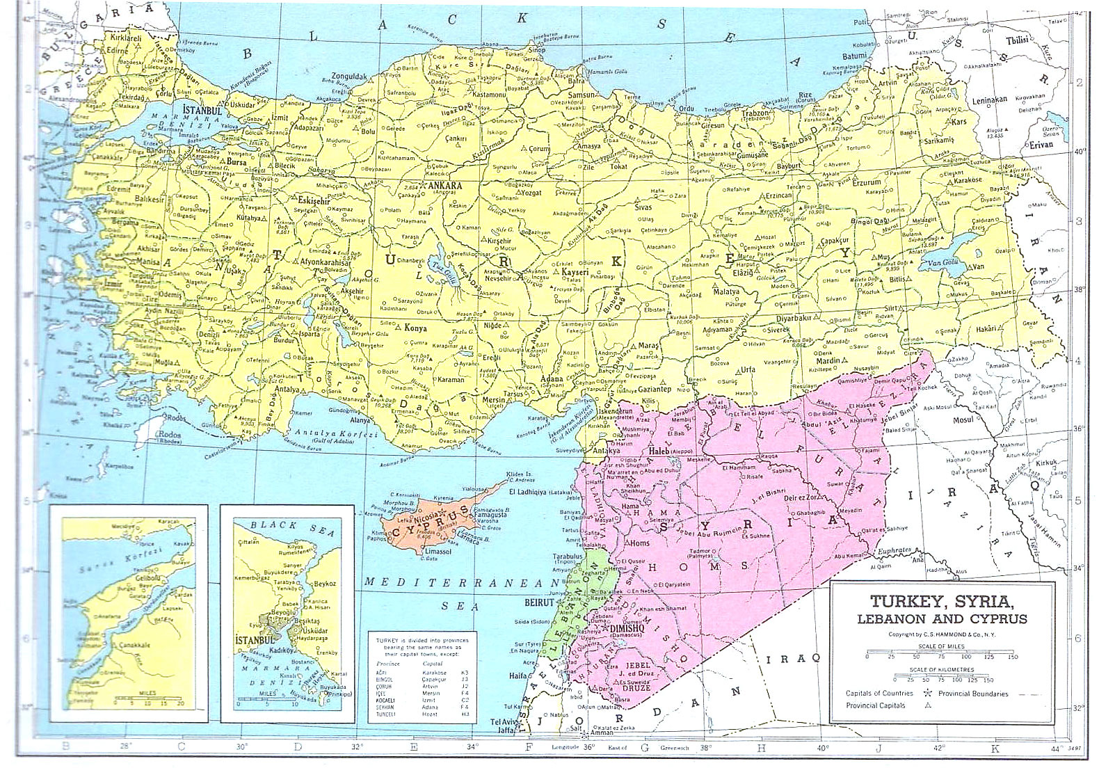 Detailed Political Map Of Syria And Turkey Syria And Turkey - Map of syria and turkey