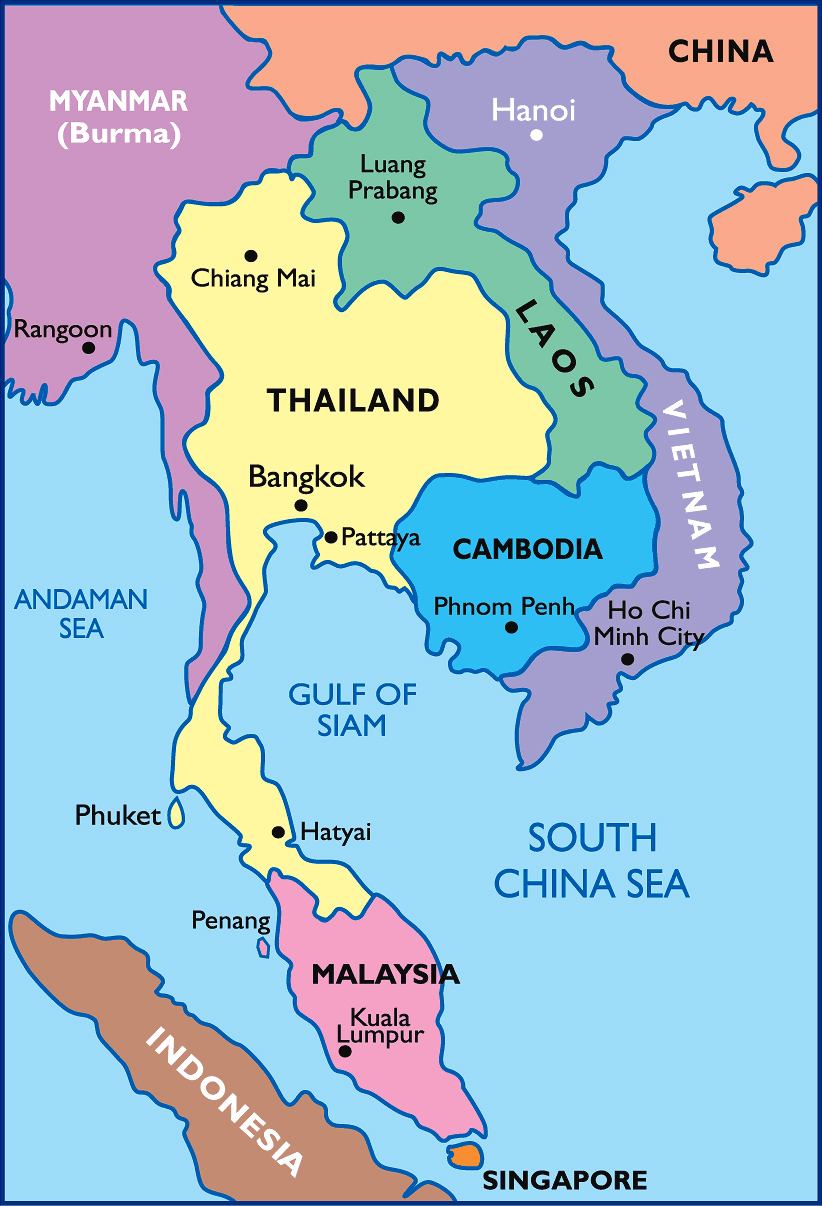 Detailed political map of Thailand. Thailand detailed ...