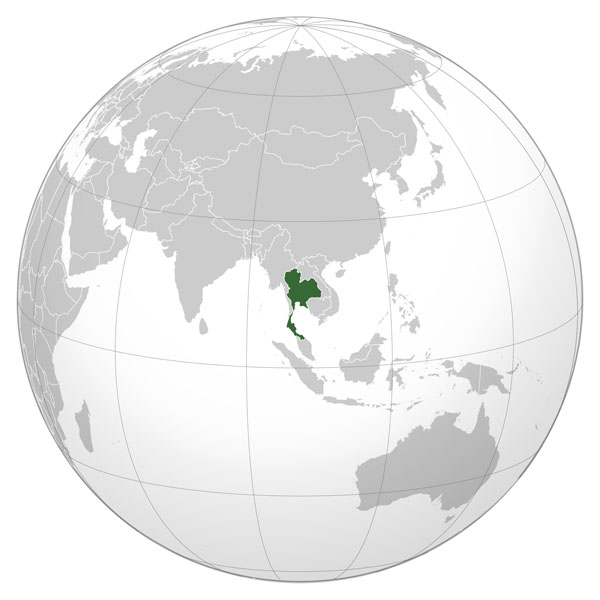 Large detailed Thailand location map. Thailand large detailed location map.