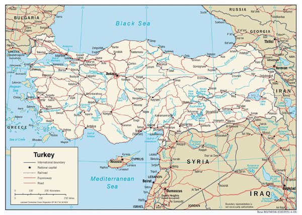 Detailed political map of Turkey. Turkey detailed political map.