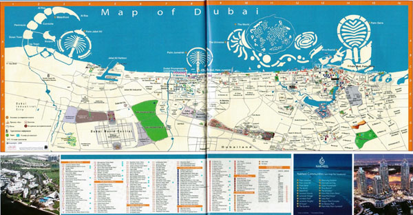 Detailed tourist map of Dubai. Dubai detailed tourist map.
