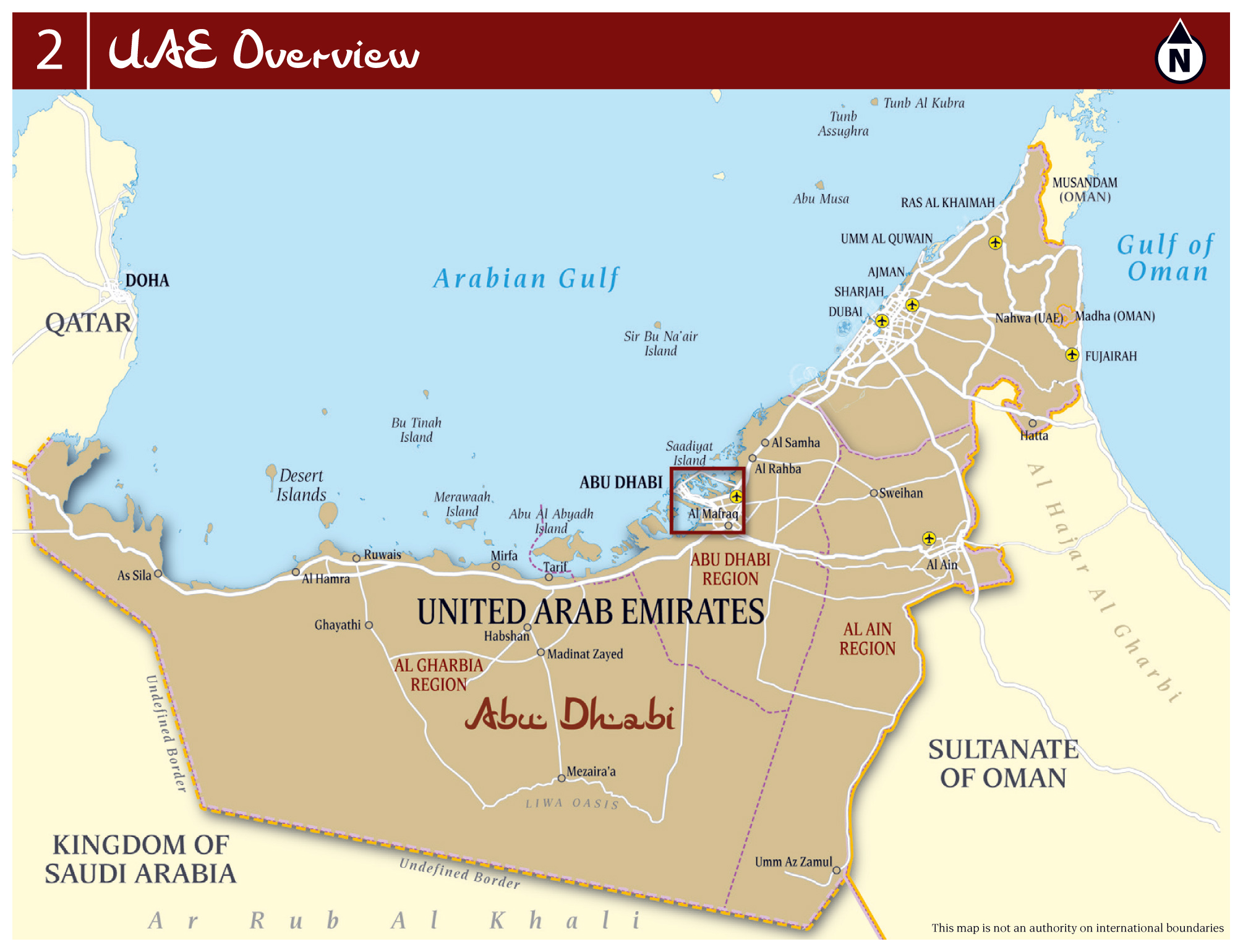 Large Detailed Overview Map Of UAE With Roads Cities And Airports - Uae map