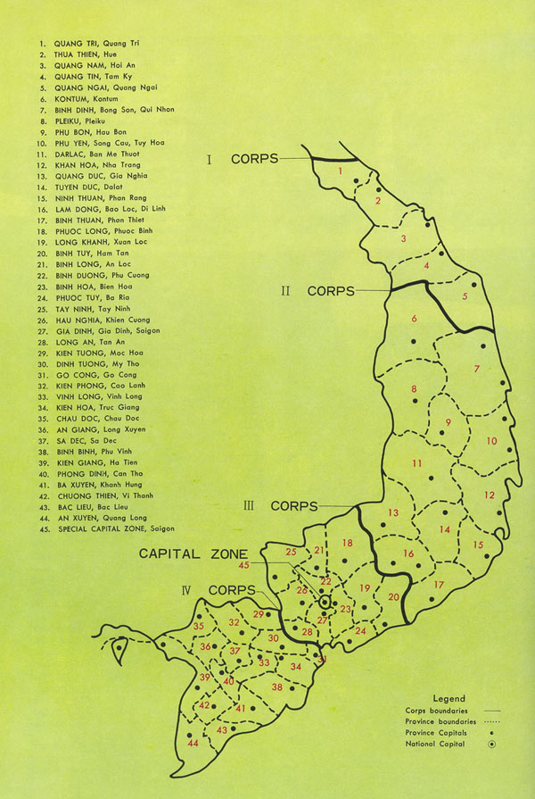 Administrative map of Vietnam all regions.