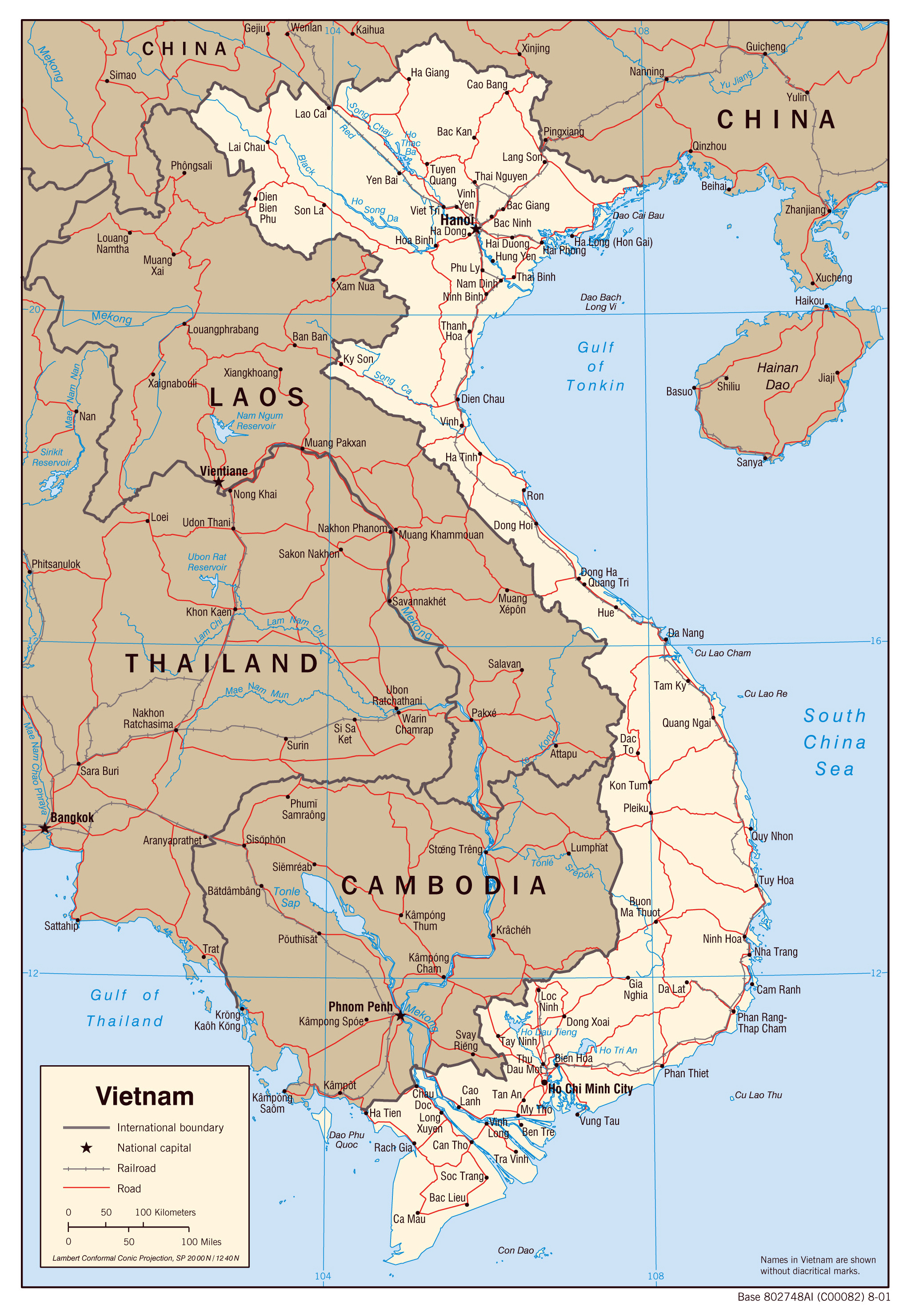 Detailed political map of Vietnam Vietnam detailed political map – Travel Map Of Vietnam