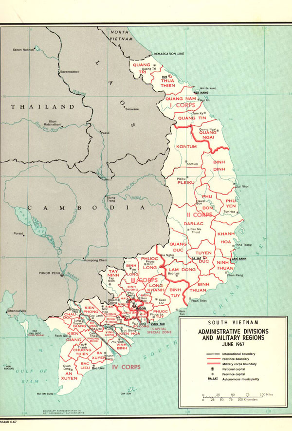Large detailed administarative map of Vietnam.