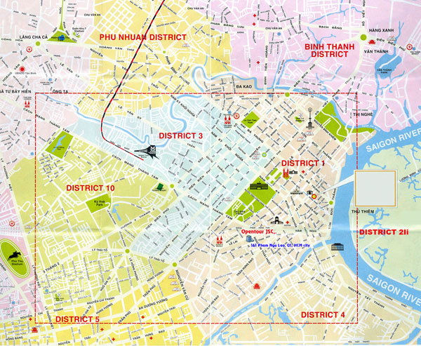 Large detailed map of Ho Chi Minh city. Ho Chi Minh city large detailed map.