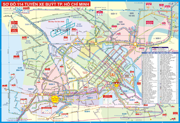Large detailed tourist map of Ho Chi Minh city.