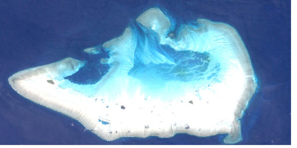 Detailed satellite map of Ashmore Reef. Ashmore Reef detailed satellite map.