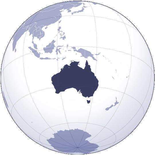 Australia Location Map – Australia Location on World Map