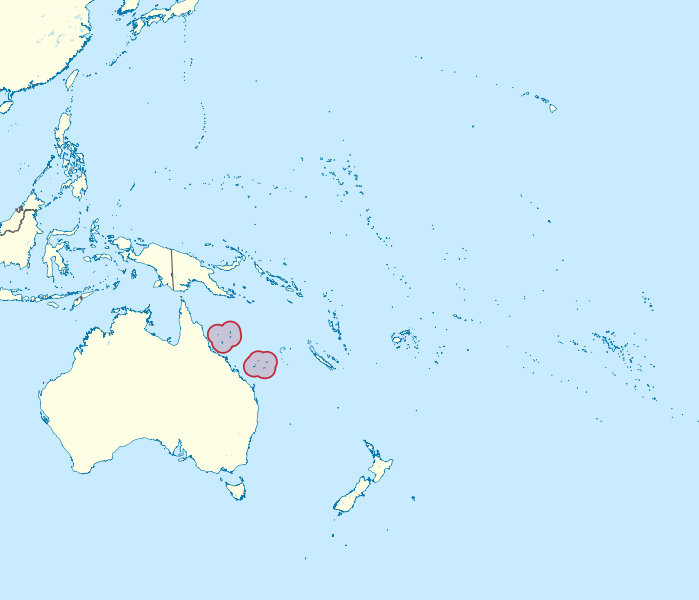 Detailed location map of Coral Sea Islands. Coral Sea Islands detailed location map.