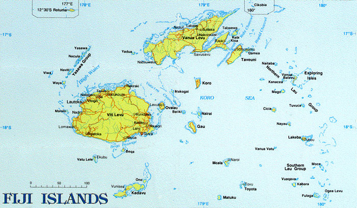 Fiji Islands Map Map Of Fiji Islands Vidianicom Maps Of All - Fiji maps with countries