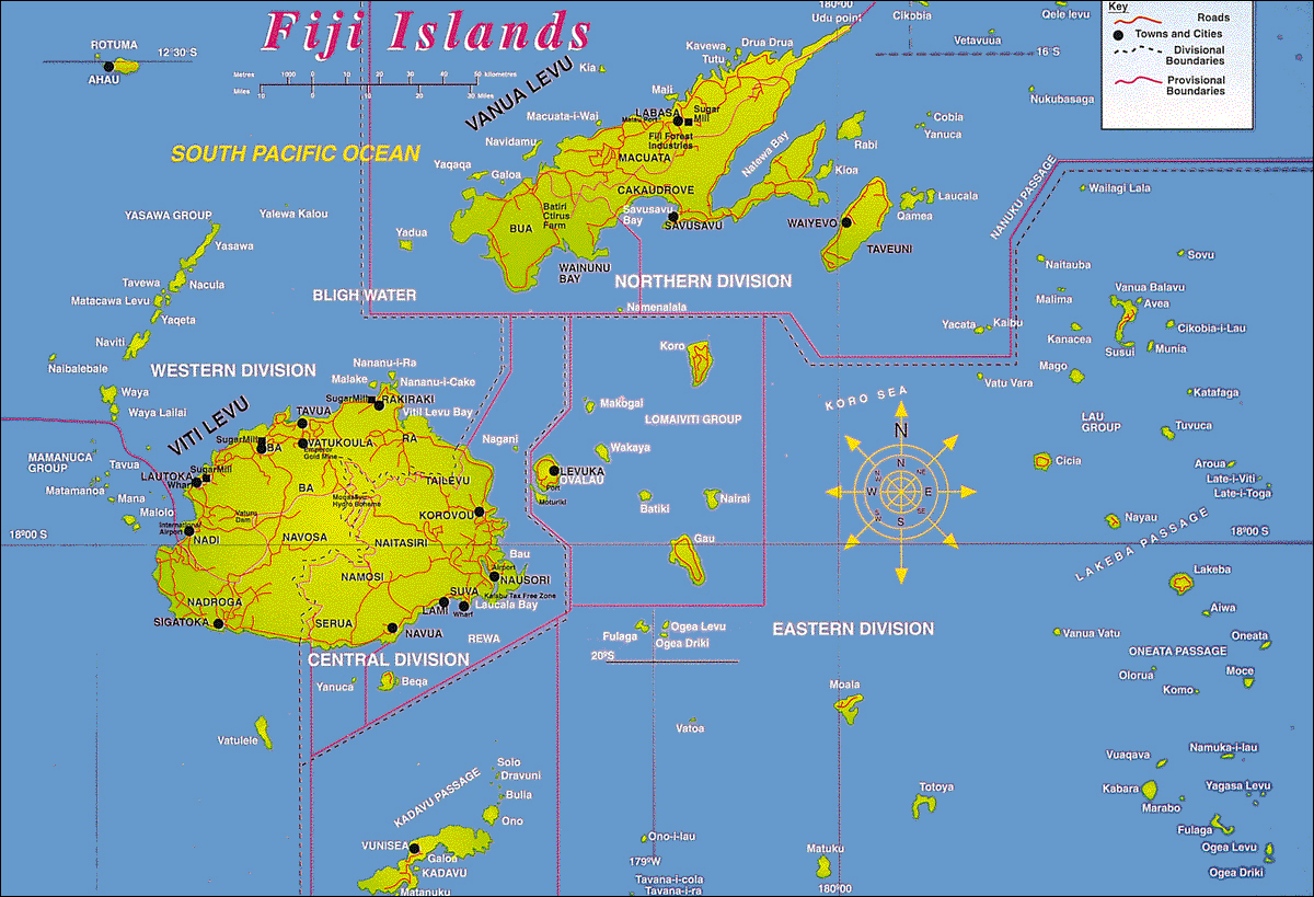 Large Detailed Fiji Islands Map Fiji Islands Large Detailed Map - Islands map