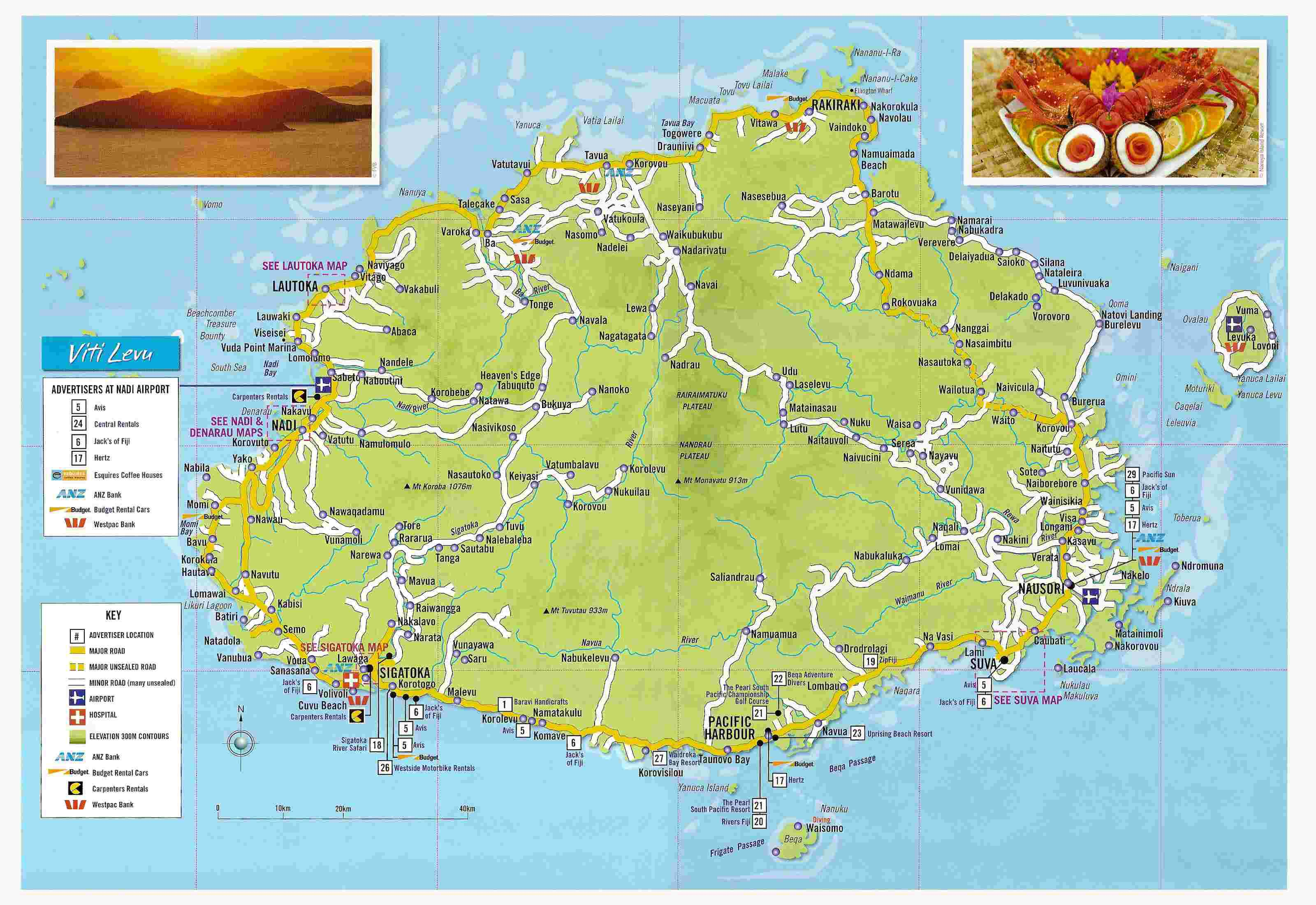 Large detailed tourist map of viti levu fiji viti levu fiji large large detailed tourist map of viti levu fiji viti levu fiji large detailed tourist map gumiabroncs Gallery
