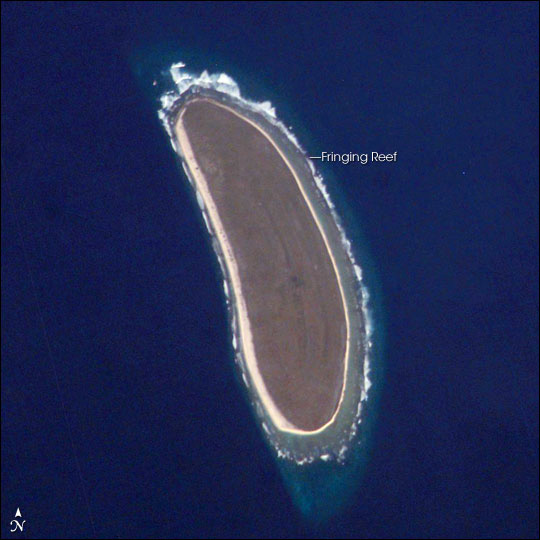 Detailed satellite map of Howland Island. Howland Island detailed satellite map.