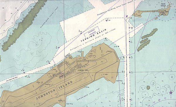 Large detailed map of Johnston Atoll. Johnston Atoll large detailed map.