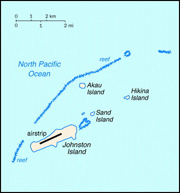 Map of Johnston Atoll. Johnston Atoll map.