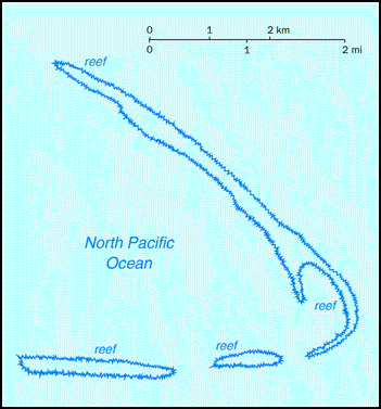 Map of Kingman Reef. Kingman Reef map.