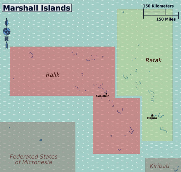 Full political map of Marshall Islands. Marshall Islands full political map.