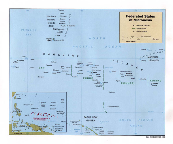 Large detailed political map of Micronesia. Micronesia large detailed political map.