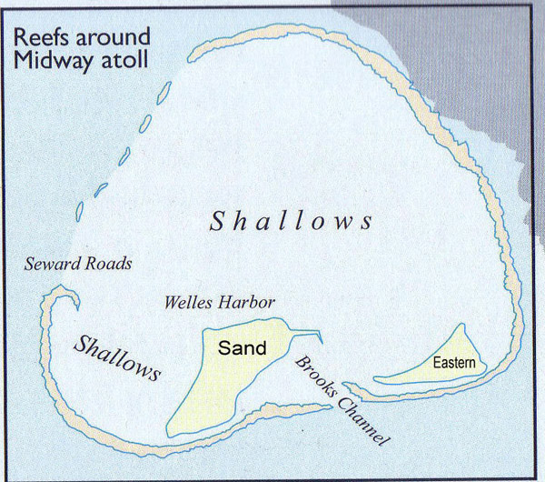 Large detailed map of Midway Islands. Midway Islands large detailed map.