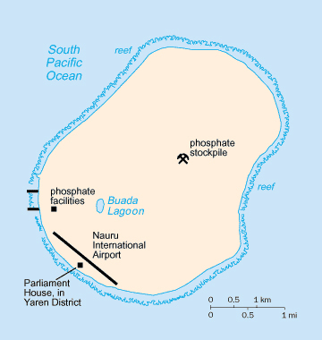 Map of Nauru. Nauru map.