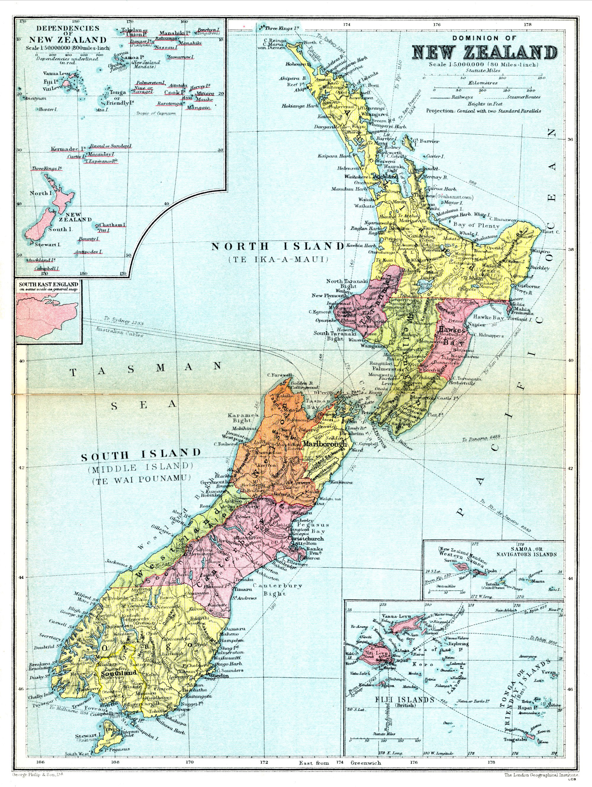 Geography Blog Detailed map of New Zealand – Tourist Map of New Zealand