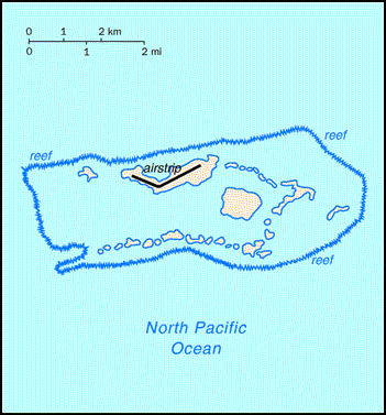 Map of Palmyra Atoll. Palmyra Atoll map.