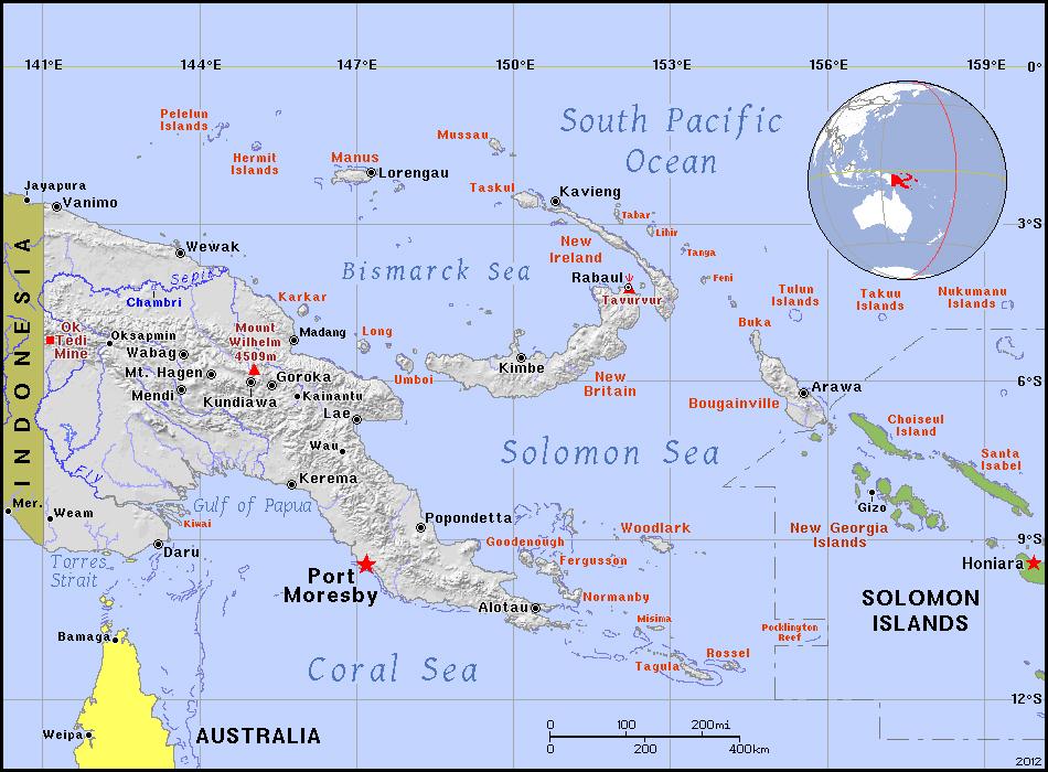 Full political map of Papua New Guinea Papua New Guinea full