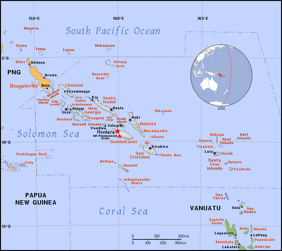 Full political map of Solomon Islands  Solomon Islands full