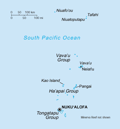 Map of Tonga. Tonga map.