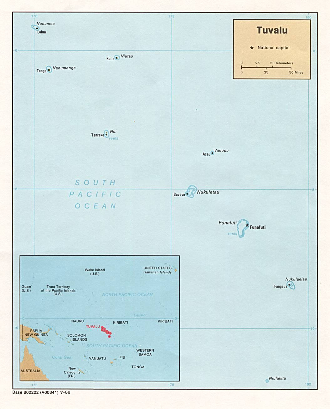 Large detailed political map of Tuvalu Tuvalu large detailed