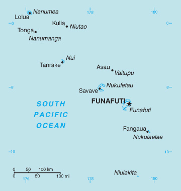 Map of Tuvalu. Tuvalu map.
