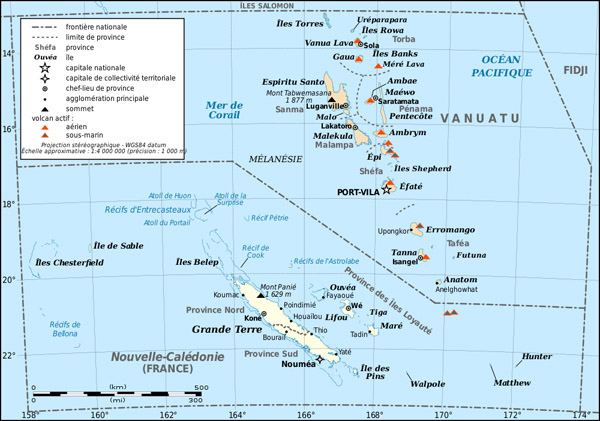 Detailed political map of Vanuatu. Vanuatu detailed political map.