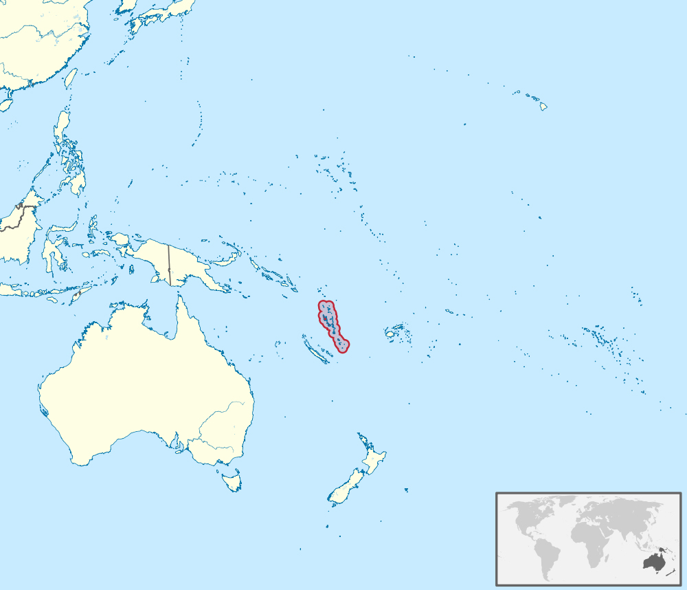Large detailed location map of Vanuatu Vanuatu large detailed