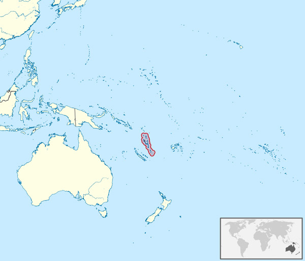 Large detailed location map of Vanuatu. Vanuatu large detailed location map.